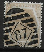 SG123.  6d.Pale Buff Plate 11. FU with London Cancel.  Cat.£120.  Ref 9.125
