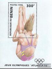 Benín Bloque 8 usado 1995 olímpicos juegos de verano ´96