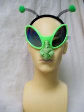 2pc Alien Costume Kit Glasses Creepy Nose Antenna Headband Grasshopper Space Bug
