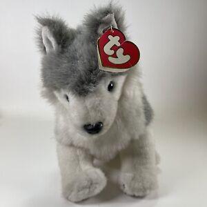 "Timber Wolf Husky Dog 15""  Plush Ty Classic 1993 TIMBER Gray & White"