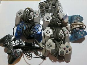 Sony PlayStation 1 2 3 PS1 PS2 PS3 Lot of 8 Controllers