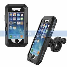 Black Waterproof Case Cover Bike Motorcycle Phone Mount For iPhone 6 6S Plus【US】