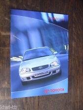 Toyota Corolla e110 (Hatchback, Sedan, lift back, Wagon) folleto/brochure, PL