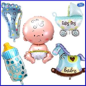 Set kit 5 palloncini nascita bimbo neonato decorazioni baby shower festa party