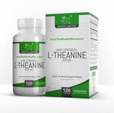 L-Theanine 400mg | Relieves Stress & Promotes Calm I 120 Vegetarian Capsules