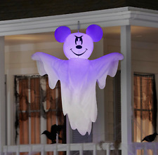 Halloween 4FT Hanging Disney Mickey Mouse Ghost Airblown Inflatable Gemmy NEW