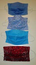 1 Fabric Face Mask - 3 Cotton Layers - Elastic - Flexible Nose - HANDMADE