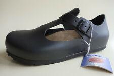 new BIRKENSTOCK Leather Mary Jane's Shoes PARIS Black US7-7.5 EU38 UK5 Regular