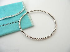 Tiffany & Co Silver Twist Twirl Swirl Bangle Bracelet Cool Rare Pouch