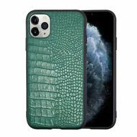 For Apple iPhone 11 Pro Green Crocodile Skin Executive Leather TPU Hybrid Case
