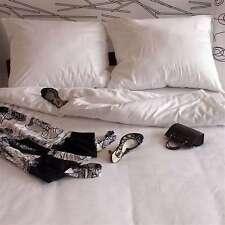 Lot de 3 Mako satin Linge de lit Uni Blanc 155X220 CM extra longueur NEUF