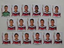 alle 17 Panini Bilder/Sticker vom DFB WM-Team Deutschland WM 2014 Brasil