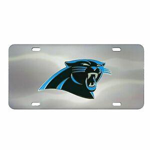 Carolina Panthers Chrome Die Cast License Plate