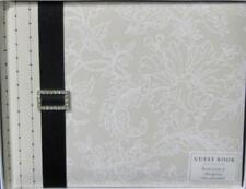 Hallmark IVORY WHITE BLACK BUCKLE GUEST BOOK Forever In Love Wedding Anniversary
