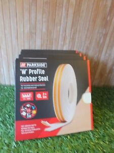 x 4 Parkside Window Doors Rubber Seal Gasket Self-Adhesive W Profile Size White