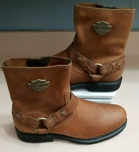 Harley-Davidson Scout Mens Size 9.5 7-Inch Motorcycle Boots Inside Zipper D95263