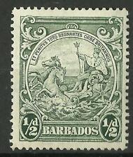BARBADOS KGV1 1942 1/2d PERF 14 MINT