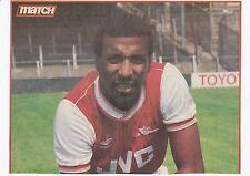 VIV ANDERSON ARSENAL 1984-1987 ORIGINAL HAND SIGNED MAGAZINE CUTTING
