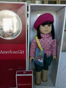 Asian American Girl Doll IVY LING w/ Meet Blouse Pants, Black Hair Pierced Ears