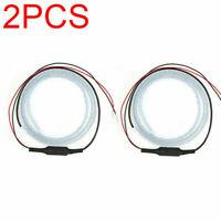 2PCS Car Door Safety LED Light Warning Lamp Flashing Strip Anti-collision Prompt