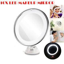 10x Miroir grossissant avec lumières LED pr maquillage rasoir illuminé