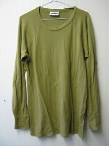 Dutch Army Mustard Thermal Top Cold Weather Long Sleeve T Shirt Military Surplus