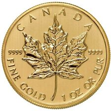 ON SALE! 1 oz Canadian Gold Maple Leaf Coin (.9999 Pure, Varied Year)