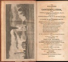 1817 - The Pleasures of Contemplation, Dr Blatchly - Eastwick & Stacy hardcover