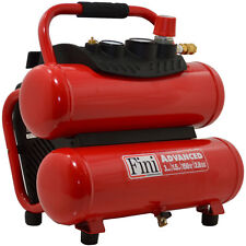 Electric Air Compressor Red Twin Stack Portable 1.5-HP 3-Gallon 150-PSI 120-Volt