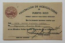 VTG CARD / ASOCIACION DE AGRICULTORES DE PUERTO RICO / MAYAGUEZ PR 1954