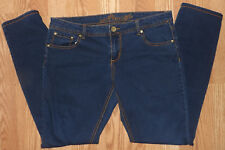 "Almost Famous Stretchy Womens Denim Size 15 Blue Jeans Skinny Slim 30"" Inseam"