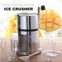 Ice Crusher Manual Hand Shaver Shredding Snow Cone Maker Machine Home Bar
