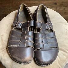 BIRKENSTOCK Leather Closed Toe Sandals Sz 45/ 12