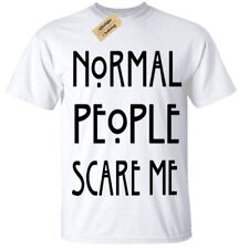 Normal People Scare Me Mens T Shirt funny goth rock punk emo anti social white