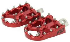 FLO MOTORSPORTS BMX STYLE FOOT PEGS RED FPEG-800V3R