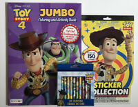 Lot Of 3 Disney Toy Story 4 Jumbo Coloring Activity Book, Stickers & Crayons