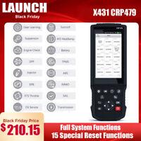 LAUNCH OBD2 Scanner Car Code Reader ABS Brake Bleeding TPMS DPF Oil Light Reset