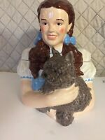 Beautiful Wizard of Oz Dorothy & Toto  Cookie Jar By Vandor In Original Box