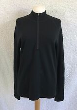 Ibex Women's size Large Shirt Merino Wool 1/4 Zip Long Sleeve Tunic Z28