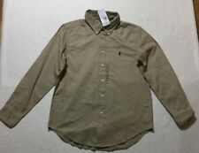 Ralph Lauren  Fall Classic Fit  Long Sleeve  Shirt Beige Khaki  SZ L(14-16)