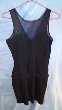 Costa Blanca Fitted Stretch Mini Black & Shear Dress sz S/P Small Petite NWT
