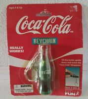 Vintage Coca Cola Bottle Collectible Keychain 1999 Watch Disappearing Coke 441-0