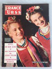 FRANCE-URSS de Décembre 1956 Numéro 134