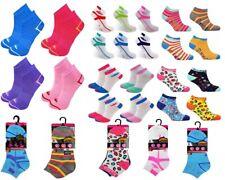 Womens Trainer Socks Pattern Striped Ladies Design Sport Gym Ankle Sock Lot 4-8
