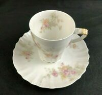 🟢 Theodore Haviland Limoges Schl 838 Blank 126 Chocolate Cup & Saucer