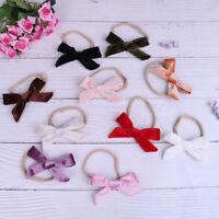 Baby girls velvet bow headband infant headbands kids hair accessories NT