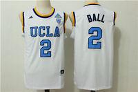 Throwback Swingman Jersey Lonzo Ball #2 UCLA Bruins Men White Stitched Jersey