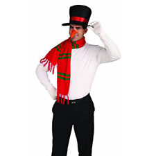 Snowman Costume Hat Nose & Scarf Funny Christmas Holiday Party Adult Accessory