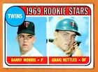 1969 Topps Twins Rookie Stars Graig Nettles Rookie Baseball Card #99. rookie card picture