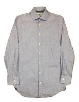 Charles Tyrwhitt Extra Slim Fit Purple Houndstooth Long Sleeve 14.5 / 32